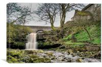 Cowshill Waterfall, Canvas Print