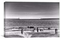 South Shields Piers, Canvas Print