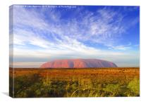 Uluru Dawn 2, Canvas Print