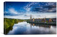 Perth City / River tay, Canvas Print