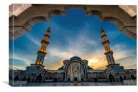 Kuala Lumpur Federal Territory Mosque, Canvas Print