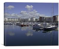Reflections In The Marina, Canvas Print