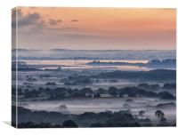 Poole Harbour Misty Morning , Canvas Print