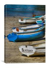 Rowing Boats, Newquay Harbour, Canvas Print