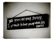 Our Life Sign, Canvas Print