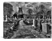 Church Graveyard, Canvas Print