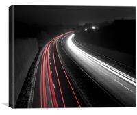 Mono Motorway, Canvas Print