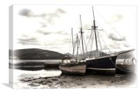 Inverary Museum and Vital Spark, Canvas Print