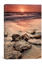 Western Australia Beach Sunset, Canvas Print
