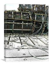 Whitby Lobster Pots, Canvas Print