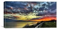 Bournemouth Westcliff Sunset, Canvas Print