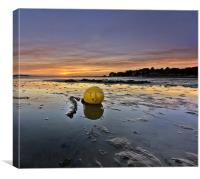 Tide out at Sunset, Canvas Print