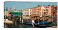 Gondolas in Venice, Canvas Print