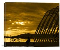 Resting bicycle, Canvas Print