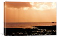 HEBRIDES JETTY SILHOUETTE LIGHT, Canvas Print