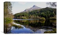 Pap of Glencoe and Lochan, Canvas Print