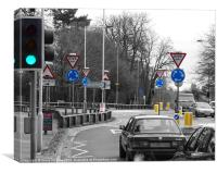 Sign Language with Woking traffic, Canvas Print