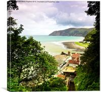 Looking back towards Lynmouth, Canvas Print