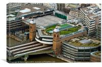 Cannon Street Station from above, Canvas Print