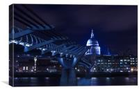 Standing below Millennium Bridge, Canvas Print