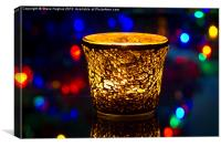 Festive candle and Bokeh, Canvas Print