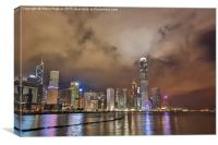 Hongkong from across the harbour, Canvas Print