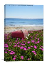 Boat with flowers, Canvas Print
