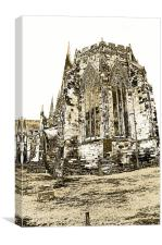 Litchfield Cathedral, Canvas Print