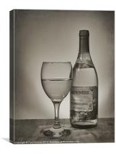 Glass of White 2, Canvas Print