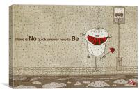 How to be happy, Canvas Print