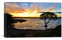 Kenfig Pool, Canvas Print