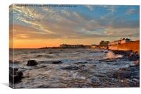 Porthcawl at Sunset, Canvas Print