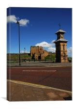 The Castle in Whitley Bay, Canvas Print