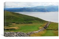 View from around The Great Orme Llandudno, Canvas Print