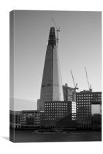 The Shard Black and White, Canvas Print
