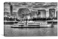The Dixie Queen Paddle Steamer, Canvas Print