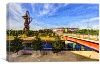West Ham Olympic Stadium And The Arcelormittal Orb, Canvas Print
