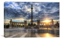 Heroes Square Budapest Sunrise, Canvas Print