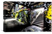 London Graffiti Art, Canvas Print