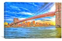 Brooklyn Bridge Pop Art, Canvas Print