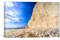Birling Gap And Seven Sisters, Canvas Print