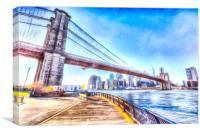 Brooklyn Bridge Art, Canvas Print