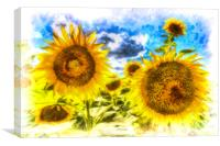 Sunflowers Art, Canvas Print