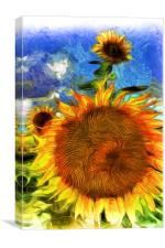 Sunflowers Van Goth Art, Canvas Print