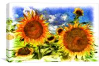 Sunflowers Van Goth Ar, Canvas Print