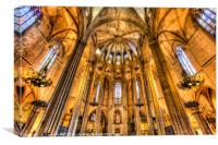 Barcelona Cathedral, Canvas Print
