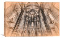 Barcelona Cathedral Art, Canvas Print