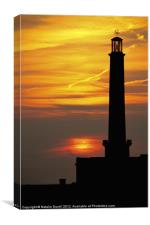 The Lighthouse at Margate, Canvas Print