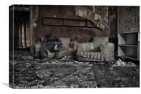 CHILLING AMONG''ST DECAY, Canvas Print