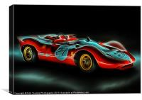 FERRARI P4 PAINTING, Canvas Print